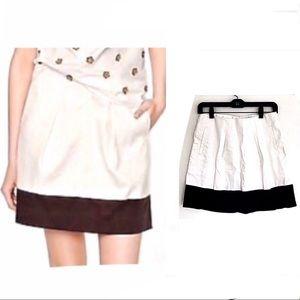 J Crew Cotton Colorblock A-Line Mini Skirt